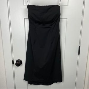 J. Crew 6 black strapless dress